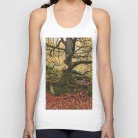 Autumnal woodland. Padley Gorge, Derbyshire, UK. Unisex Tank Top