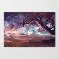 It Made Scars In The Sky… Canvas Print
