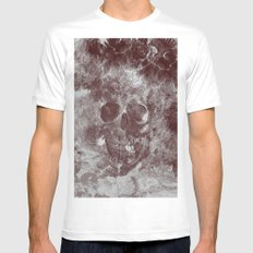 SKULL#03 Mens Fitted Tee White SMALL