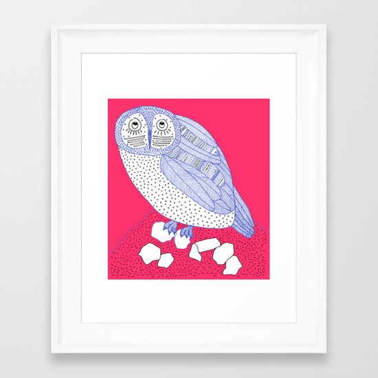 Just Another Owl Framed Art Print