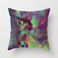 Seahorse Nebula Throw Pillow