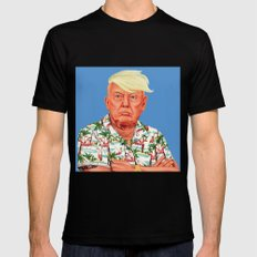 Hipstory -  Donald Trump Black Mens Fitted Tee SMALL