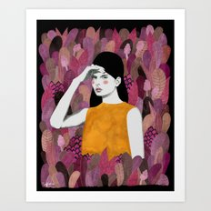 Dalila At Night Art Print
