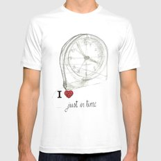 Just in time Mens Fitted Tee White SMALL