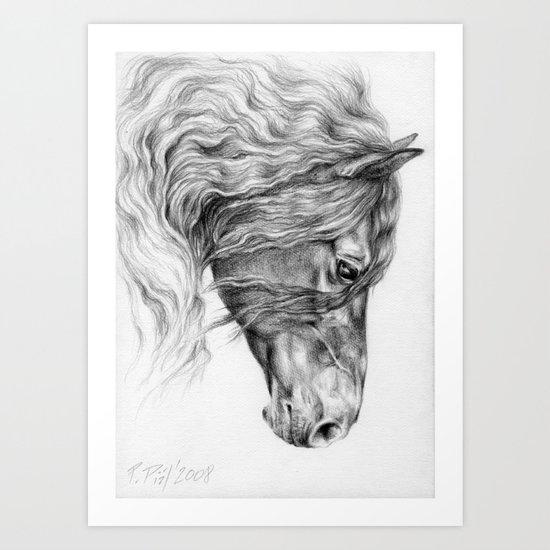 Friesian Horse Art Print By Canisart Society6