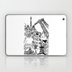 Three City Silhouettes Laptop & iPad Skin