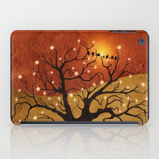 sunset and lights iPad Case