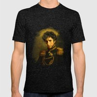 Bob Dylan - replaceface Mens Fitted Tee Tri-Black SMALL