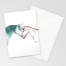Unicorns in love Stationery Cards