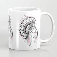 Indian Headdress Pink Version Mug