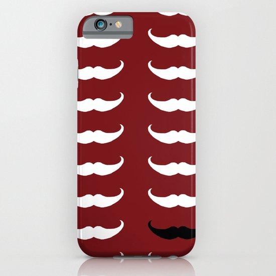 White Mustache Black Mustache iPhone & iPod Case