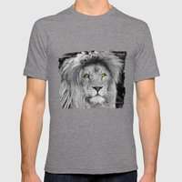 LION BEAUTY Mens Fitted Tee Tri-Grey SMALL