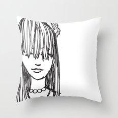 Monday face... Throw Pillow