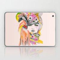 Pink Leaves Laptop & iPad Skin