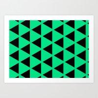 Sleyer Black On Green Pa… Art Print