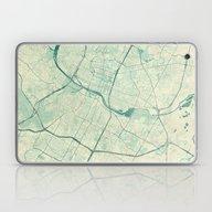 Austin Map Blue Vintage Laptop & iPad Skin
