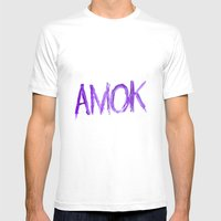 Amok Mens Fitted Tee White SMALL