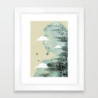 Drifting on a cloud Framed Art Print