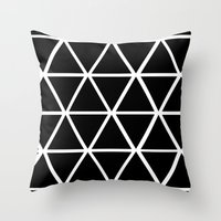 BLACK & WHITE TRIANGLES … Throw Pillow
