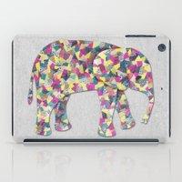 Elephant Collage In Gray… iPad Case