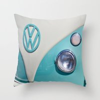 Classic VW Camper Throw Pillow