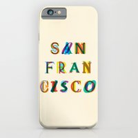 san francisco iPhone & iPod Cases featuring San Francisco by Fimbis