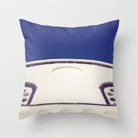 Santorini Churches IV Throw Pillow