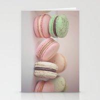 Blush Macarons Stationery Cards