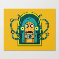 Danger at the moment of the click Canvas Print