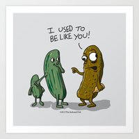 The Pickle Art Print
