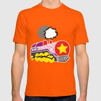 Para Papa Mens Fitted Tee Orange SMALL