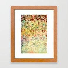 Flower Shower Framed Art Print