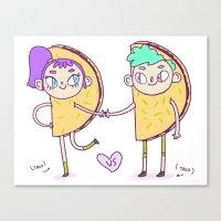 Taco Love Canvas Print