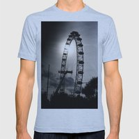 London At Dusk Mens Fitted Tee Athletic Blue SMALL