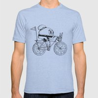 Pizzabike Burger Mens Fitted Tee Tri-Blue SMALL