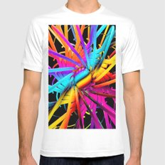 Abstract SMALL Mens Fitted Tee White