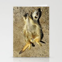 MM - Relaxing meerkat Stationery Cards