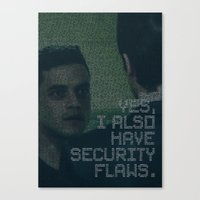 mr. robot_eps1.4_3xpl0its.wmv Canvas Print