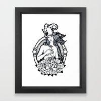 A Passing Glance Framed Art Print