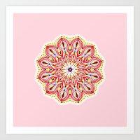 Mandala Pink Art Print