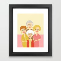 Thank you for being a friend Framed Art Print