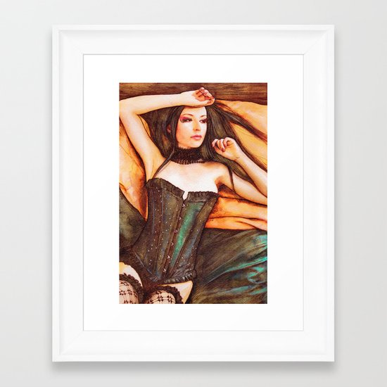 Corset Framed Art Print