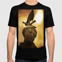The Watcher of  Charles Bridge Mens Fitted Tee Black SMALL