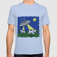 Cow Abduction! Mens Fitted Tee Athletic Blue SMALL