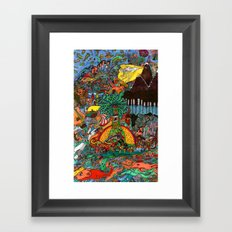 A Land Of Chaos Framed Art Print