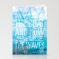 My Oh My: We've Missed the Waves Stationery Cards