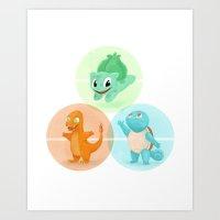 Poké: Choose Your Start… Art Print
