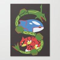 Pocket Monster 382, 383 … Canvas Print