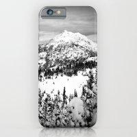 Snowy Mountain Peak Black and White iPhone 6 Slim Case