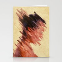 woman Stationery Cards featuring Woman by SensualPatterns